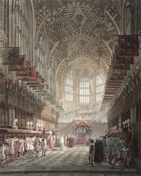 Installation of the Knights of the Bath in the Henry the Seventh Chapel Westminster Abbey